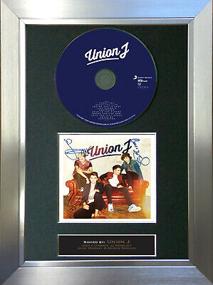 UNION J Album Signed Autograph CD & Cover Mounted Print A4 17