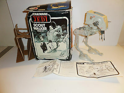 Star Wars Return Of The Jedi Scout Walker Vehicle & Box / Manual 1983