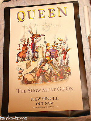 QUEEN - Show must go on 1991 EMI Uk billboard big promo single poster Grandville