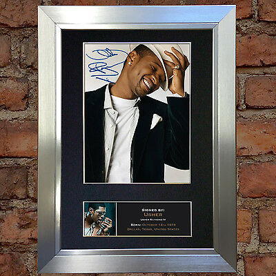 USHER Signed Autograph Mounted Photo Repro A4 Print 166