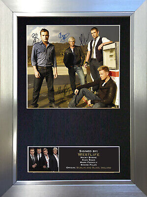 WESTLIFE Signed Autograph Mounted Photo Reproduction A4 Print 188
