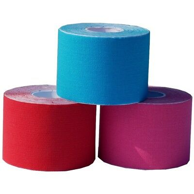 15 Rollen Kinesiologisches Tape  5 cm x 5 m  rot, pink, blau Reha  Sport  Physio