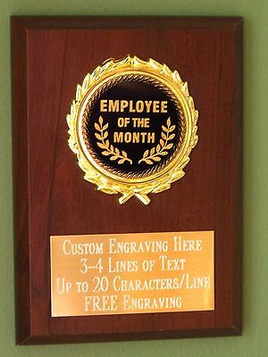 EMPLOYEE OF THE MONTH TROPHY WORK STAR AWARD FREE ENGRAVING 16cm PK199A B26