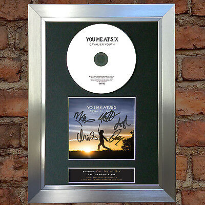 YOU ME AT SIX Cavalier Youth Signed Autograph CD & Cover Mounted Print A4 59