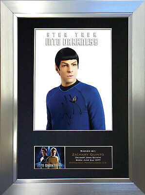 ZACHARY QUINTO Star Trek Signed Autograph Mounted Repro Photo A4 Print no383