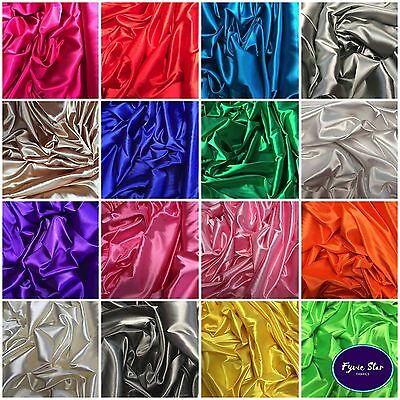 STRETCH SATIN Polyester Fabric with Spandex  3.99 Per Metre 150cm wide