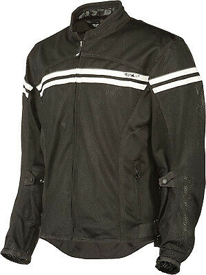 FLY RACING FLUX AIR BLACK CREAM WHITE Mesh Jacket FREE SHIPPING