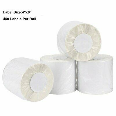 2-100 Rolls 450/Roll 4x6 Direct Thermal Shipping Labels Zebra ZP450 Eltron 2844