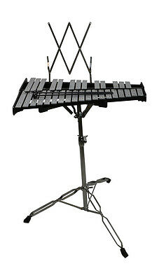 Metallophone 32 Keys With Chrome Stand and Practice Pad by Bryce