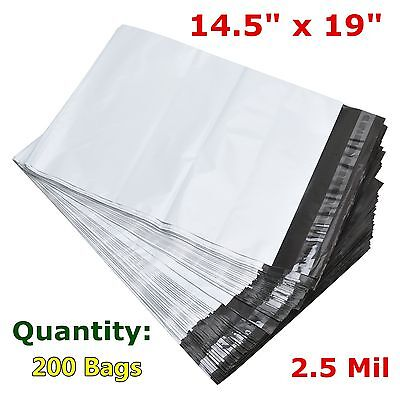 200 14.5x19 Poly Mailer Polybag Shipping Envelope Self Seal Plastic Bags 2.5 Mil