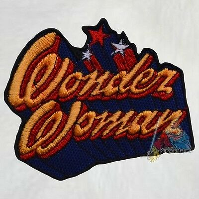 Wonder Woman Tv Series Logo Embroidered Patch Super Powers Comic Lynda Carter