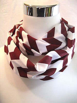Small Maroon Chevron stripe Infinity Scarf Baby Toddler Kid PHOTO PROP