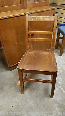 Mahogany Wood Chair Vintage  Shabby Chic Superb Piece Genuine 1950s 1960s
