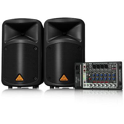 BEHRINGER EUROPORT EPS500MP3 Portable 500W 8-Channel PA Speaker System MP3