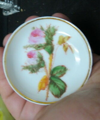 1800's  ironstone butter pats / unmarked Grindley Moss Rose / 4 nice mini plates