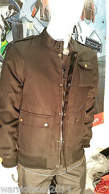 Mens Black Mcqueen Classic Quilted  Bomber Top Wax Cotton Bikers Style Jackets