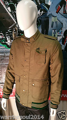 Mens Mcqueen Classic Vintage  Quilted Ribbed Wax Cotton Bikers Style Jackets