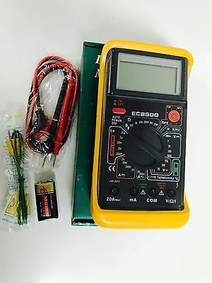 EC890G DIGITAL MULTI METER Tester FREQUENCY TEMPERATURE CAPACITY TEST & LCD SCRN