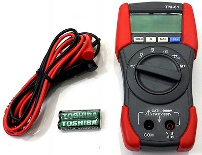 Tenmars Digital Multi Meter Multimeter At Iv Ac Dc Voltage To 600 Volts