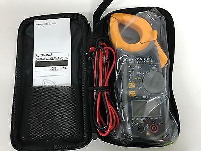 Konstar Solid State Protection Auto Range Digital Clamp Meter 600V Catiii +Case