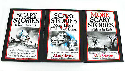 Scary Stories To Tell In The Dark Book Set Volume 1,2,3, Kids books New