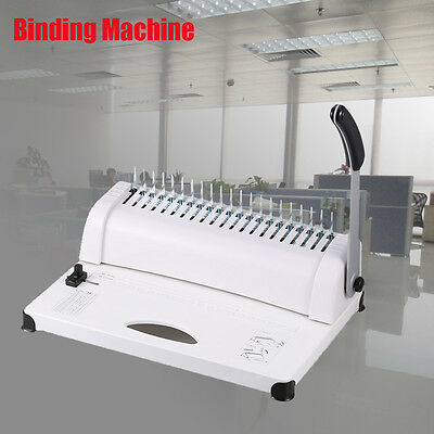 Electric Office Comb Binding Machine 21 Hole A4 Plastic Coil Punch Binder Manual