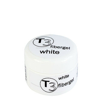 SNB Professional T3 UV Gel Fibergel White 5g / 0.17oz