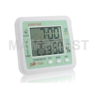 Digital Thermometer & Humidity with Clock / Alarm / Calendar