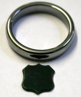 Loose Bloodstone Natural Gemstone 10X11Mm Shield For Signed Ring Stamp1Ct Mi33