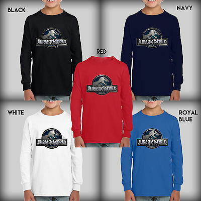 Jurassic World New Youth Kids Colors Long Sleeve T-Shirt Size S-XL