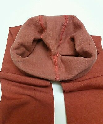 Girls Good Quality Fleece Lined Footless Tights 5-6 Yrs No.251 Tomato Red