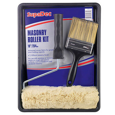 "SupaDec DIY Decorating Masonry Roller Kit with 4"" (100mm) Brush - FREE P&P"