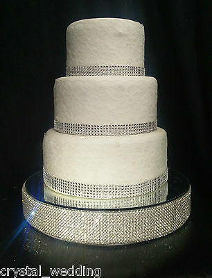 DIAMANTE CAKE STAND  50mm - Glass rhinestones  Silver, Rose gold, Gold or Pearls