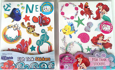 Disney Fish Tank Stickers Little Mermaid Finding Nemo Includes Dory