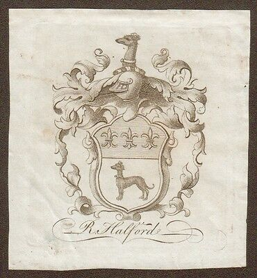Bookplate of R. Halford.