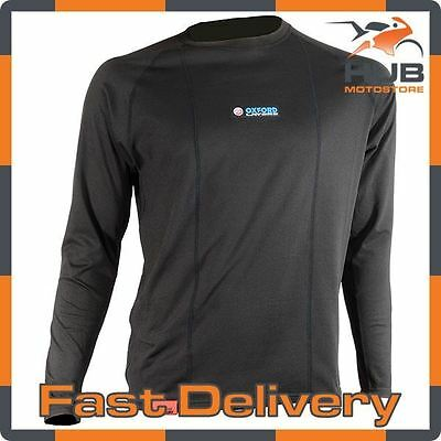 Oxford Layers Warm Dry Motorcycle Motorbike Thermal Base Layer - Long Sleeve Top