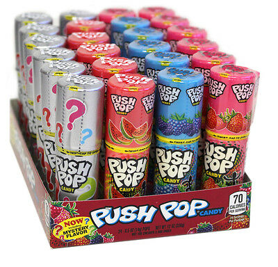 24 Push Pop Assorted Lollipop Candy