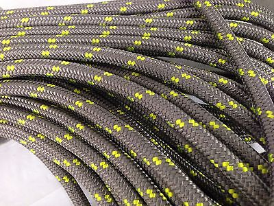 "Double Braid Polyester 1/2""x 150 feet arborist rigging tree rope line platinum"