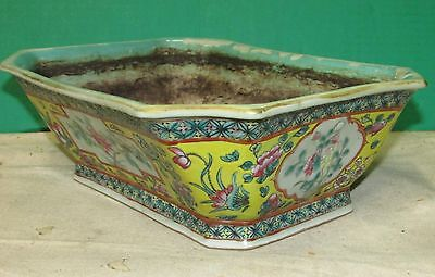 Antique Chinese Ceramic Planter or Bowl AS - IS Condition