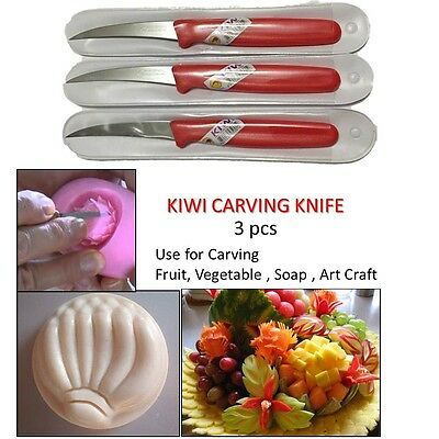 Kiwi Stainless Thai Food Craft Carving Knife Kitchen Tool Fruits Vegetable Soap