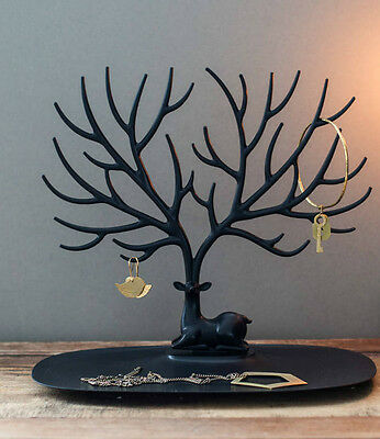 Display Jewelry Tree Deer Stand Holder Rack Show Earring Necklace Ring Retro UK