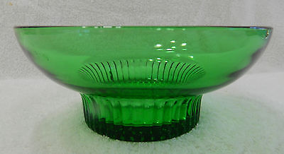 Green Glass Bowl by the A.L.Randall Co. Prairie View, Ill.