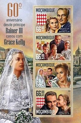 Z08 MOZ16228a MOZAMBIQUE 2016 Prince Rainier III and Grace Kelly MNH