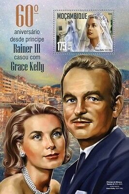 Z08 MOZ16228b MOZAMBIQUE 2016 Prince Rainier III and Grace Kelly MNH