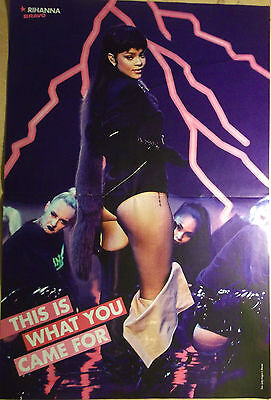 1 german poster RIHANNA NOT SHIRTLESS LIVE SINGER WHAT YOU CAME FOR BOYS BOY