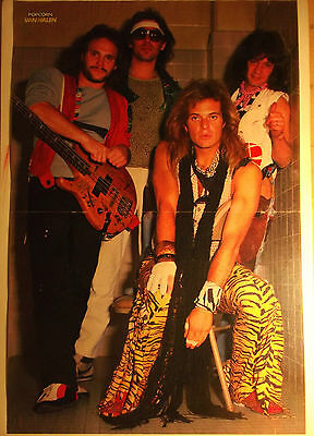 1 german poster VAN HALEN DAVID LEE ROTH FEW SHIRTLESS ROCK BOY BAND BOYS GROUP