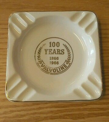 Original 100 YEARS 1866 -1966 VALOLINE ASHTRAY Advertising Gas Gasoline & Oil