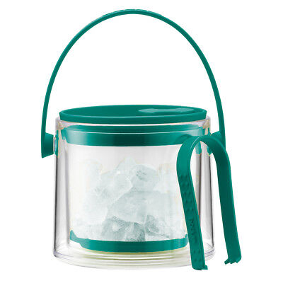 NEW Bodum Cool Green Ice Bucket with Tongs 1.5L