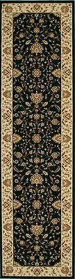 Hallway Runner Rug Hall Carpet Persian Mat Traditional Black Cream 4 Meters Long