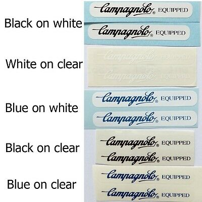 Campagnolo frame decals two sizes and  color options